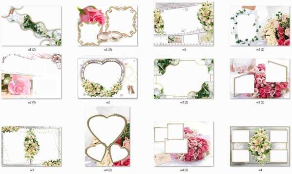 Свадебные рамочки для Adobe Photoshop